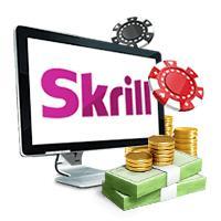 logo skrill design ordinateur portable tablette téléphone portable roulette jetons